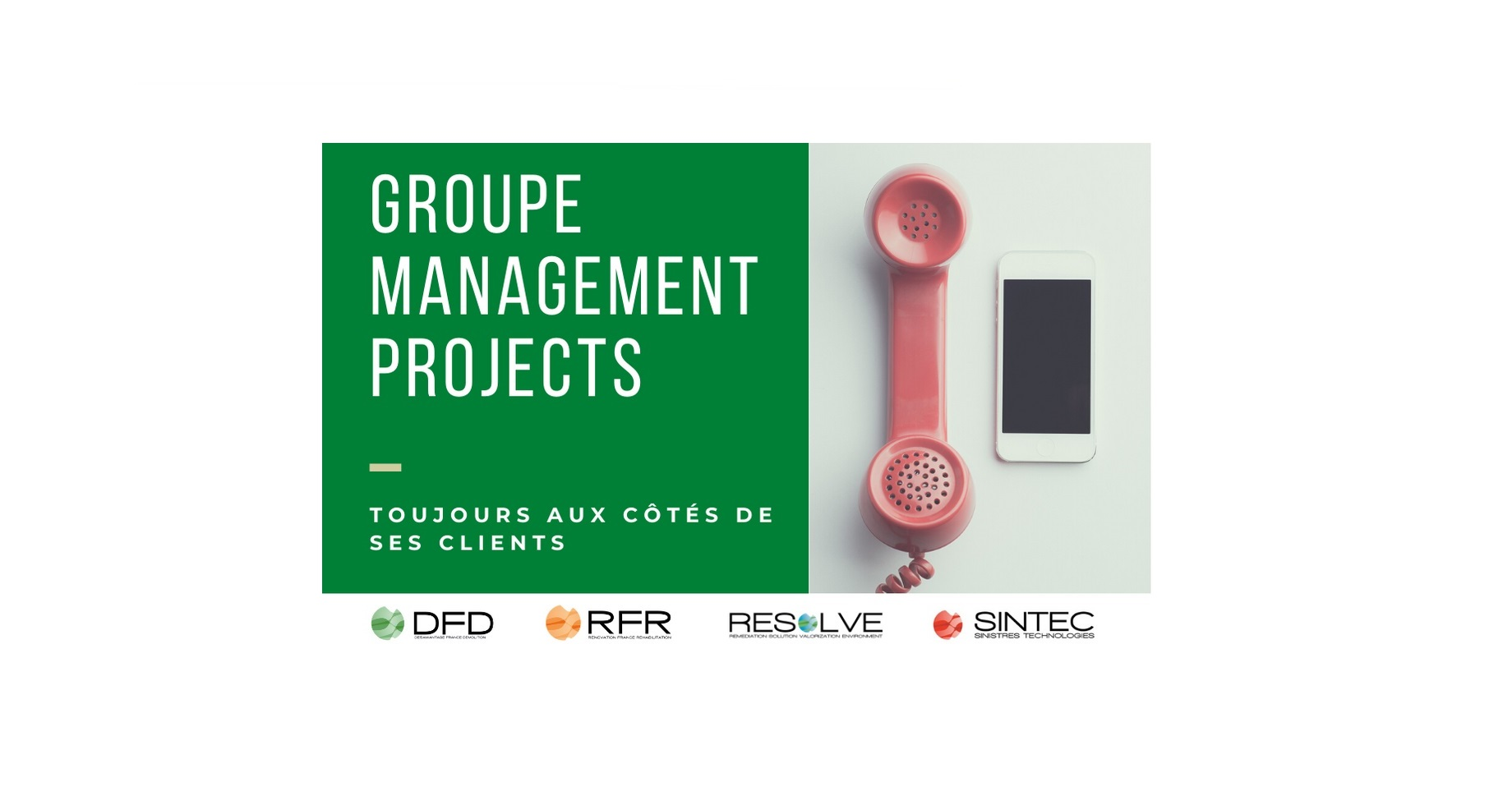 Le groupe Management Projects mobilisé