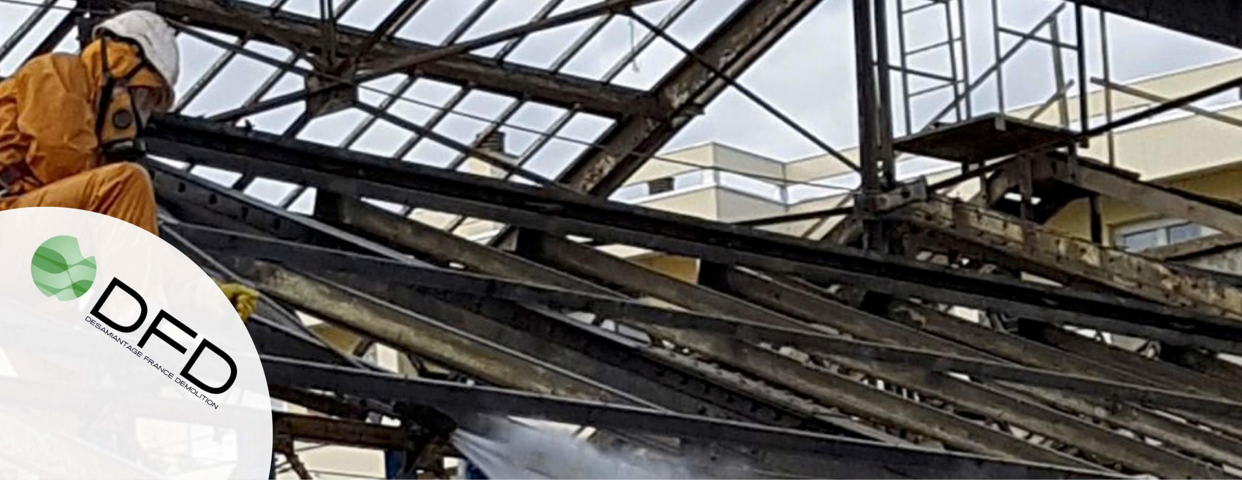 Déplombage de la charpente métallique Halle Berliet – Lyon