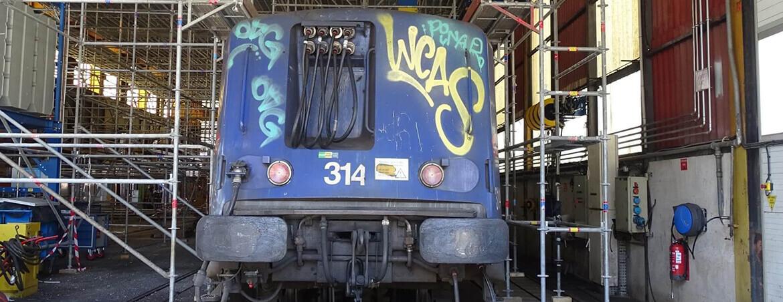 Réalisation des travaux de la gare de maintenance de Nice (06)