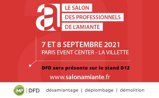 Salon des professionnels de l'amiante 2021 à Paris